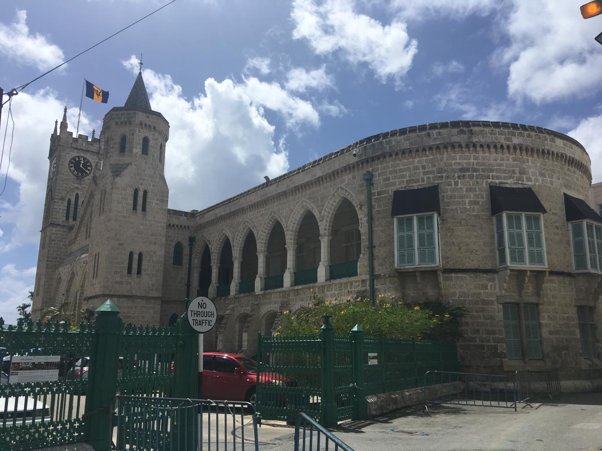 House of parliament i Bridgetown.
