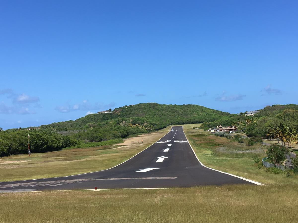 Flygplatsen på Mustique.