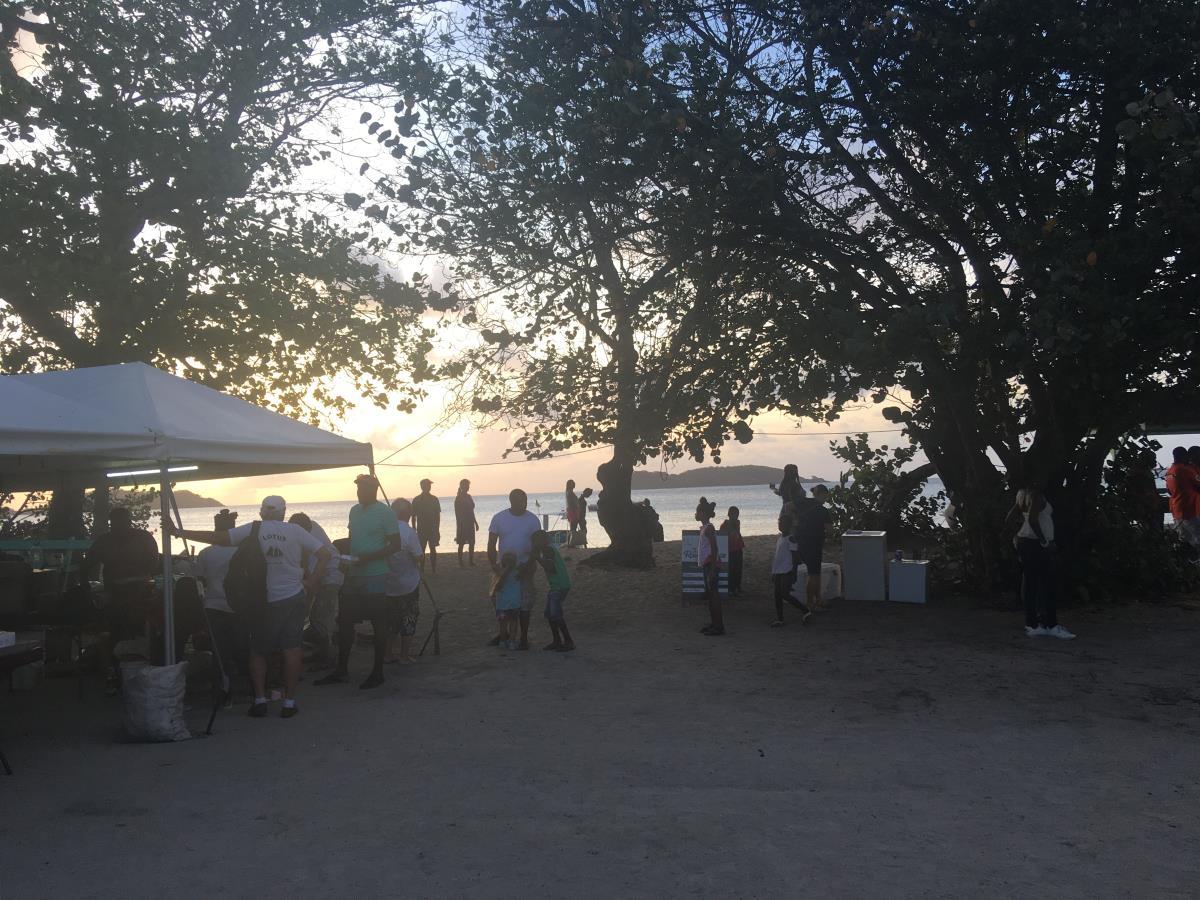 Musikfestival på stranden, Carriacou.