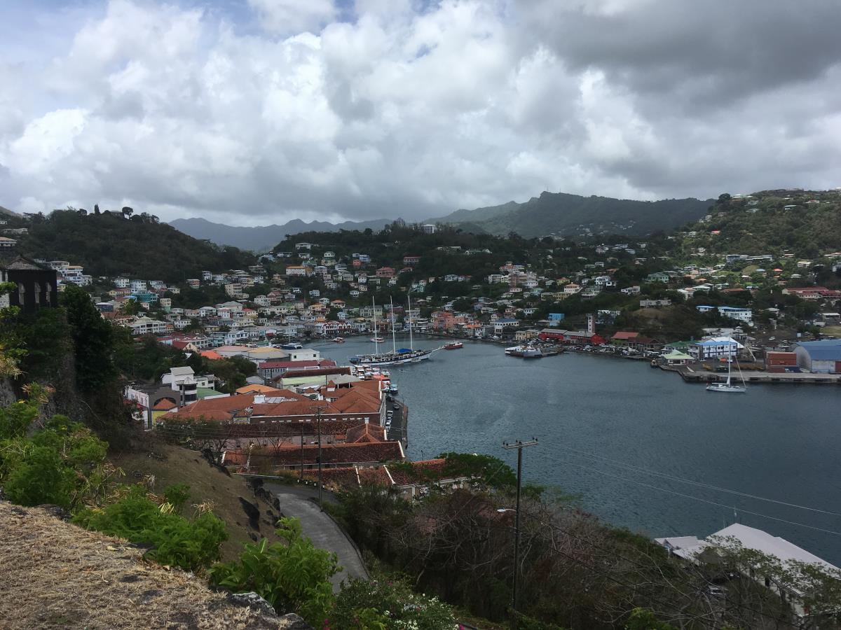 Utsikt över St George, Grenada.