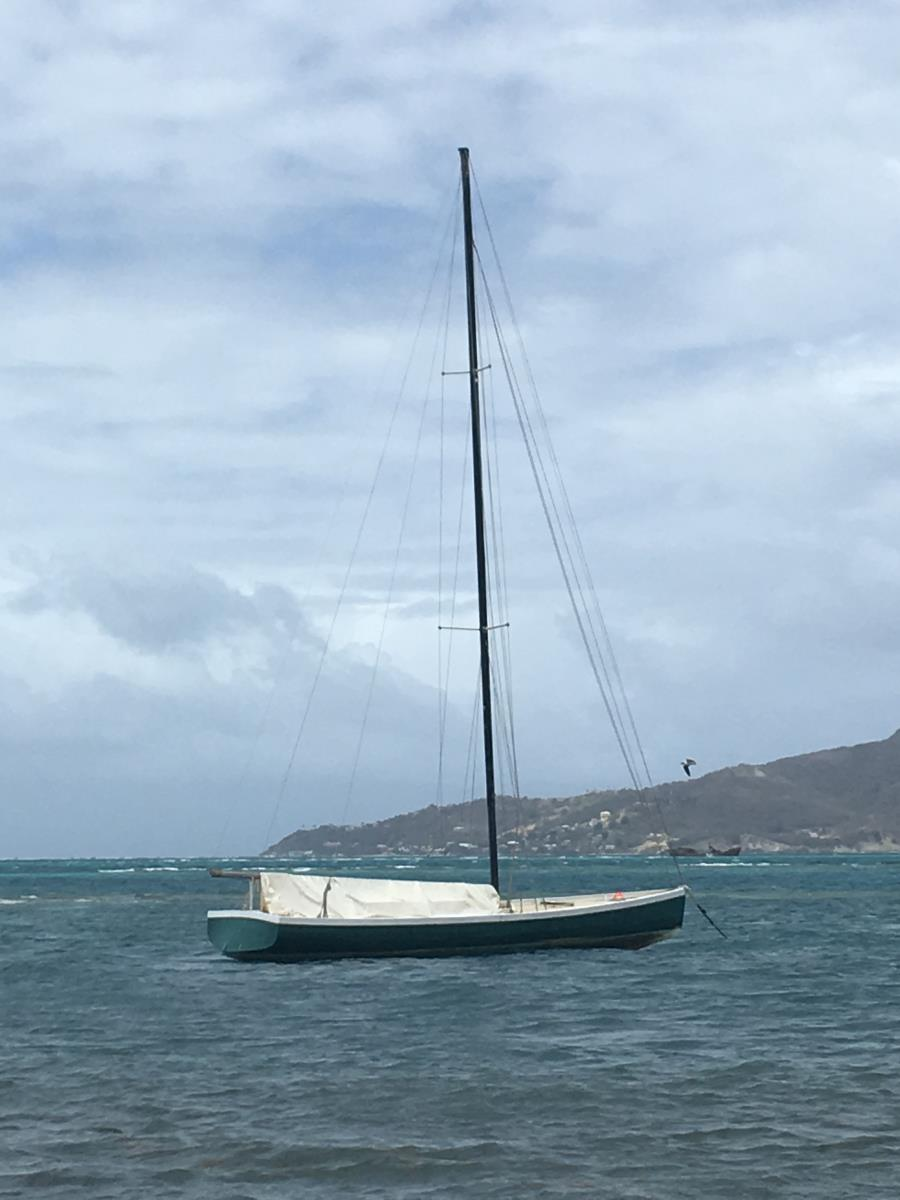 En Carriacou sloop byggd i Windward.