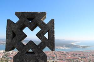 En av världens vackraste utsikter, Santa Luzia ovanför Viana do Castelo.