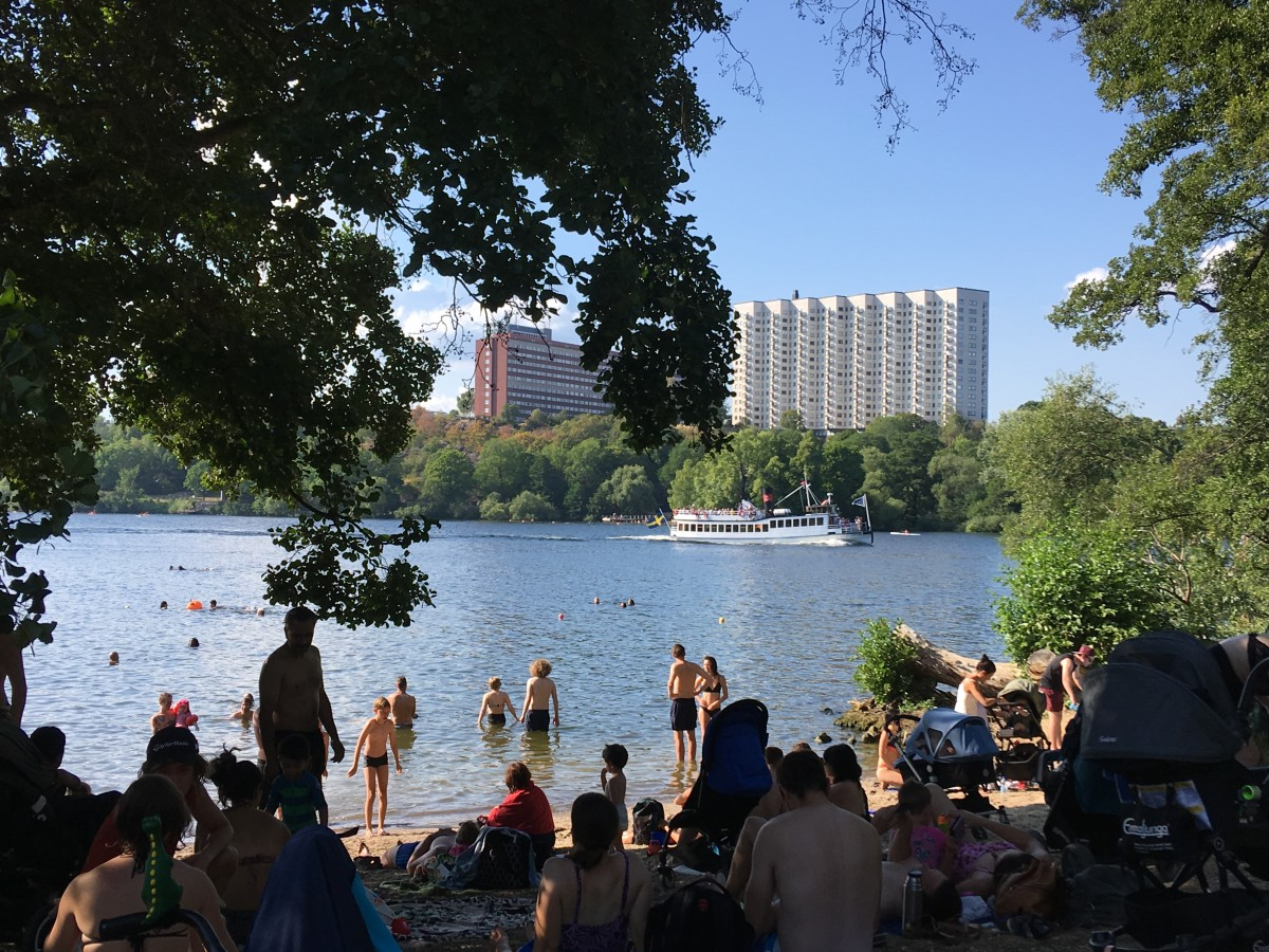 Långholmsbadet som besökts frekvent denna sommar. Njutning mitt i stan!